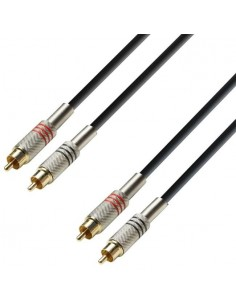 Adam Hall Audio Cable 2 x RCA male to 2 x RCA male 3 m