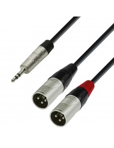 Adam Hall Audio Cable REAN 3.5 mm Jack stereo to 2 x XLR male 1.8 m