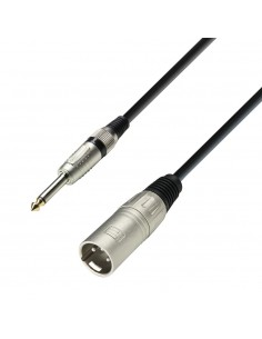 Adam Hall Cables 3 Star Series - Microphone Cable XLR male to 6.3 mm Jack mono 6 m
