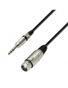 Adam Hall Cables 3 Star Series - Microphone Cable XLR female to 6.3 mm Jack stereo 3 m