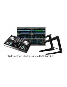 Native Instruments Traktor Kontrol S2 Mk2 + Adam Hall Soporte Portatil