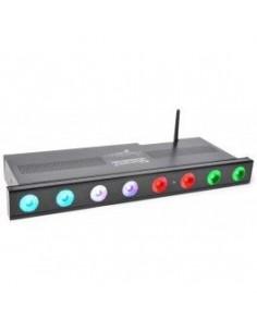 BeamZ Professional Wi-Bar 8x 3W Tri-color LEDs con Bateria 2.4GHz DMX