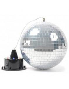 BeamZ Bola de espejos con LED + Motor con LEDs