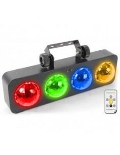 BeamZ DJ Bank BX 4x3W LEDS RGBA mando IR