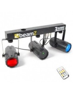 BeamZ 3-Some Conjunto 2x 57 RGBW LEDs con Laser R/G