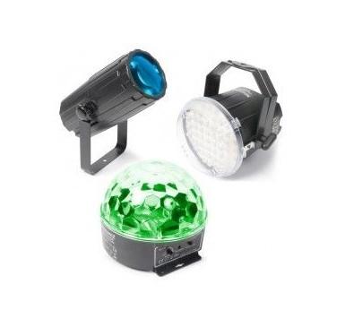 BeamZ Pack 1 Iluminacion - Moon, Strobo, Star