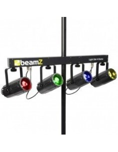BeamZ 4-Some Conjunto 4x 57 RGBW LEDs DMX