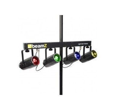 BeamZ 4-Some Conjunto 4x 57 RGBW LEDs DMX