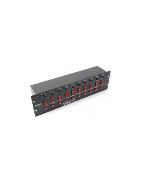 BeamZ PS10 Panel de interruptores 10 canales + Boton Flash