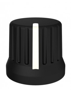 Chroma Caps DJ TechTools Encoder Knob Negro