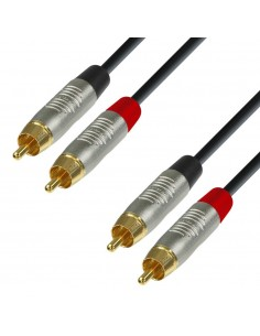 Adam Hall Cables K4 TCC 0300 - Audio Cable REAN 2 x RCA male to 2 x RCA male 3 m