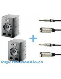 2 FOCAL ALPHA 65 + 2 CABLES RCA MACHO A JACK STEREO 6.3 MM -3m