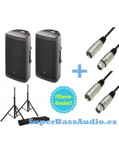 2 JBL EON 615 + Soportes +2 Cables XLR Male To XLR Female 3m