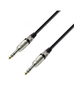 Adam Hall Cables K3BVV0090 - Cable de Audio de Jack 6,3 mm estéreo a Jack 6,3 mm estéreo 0,9 m
