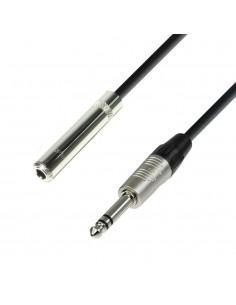 Adam Hall Cables K4BOV0300 - Cable de Extensión para Auriculares de Jack 6,3 mm estéreo a Jack 6,3 mm estéreo 3 m