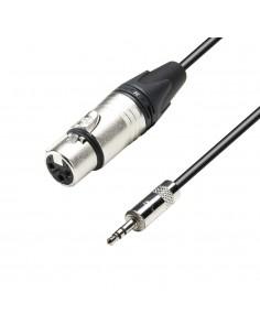 Adam Hall Cables K5MYF0150 - Cable de Micro Neutrik de XLR hembra a Jack 3,5 mm estéreo 1,5 m