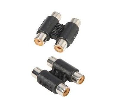 Adam Hall 7552 - Adapter 2 x mono RCA female to 2 x mono RCA female