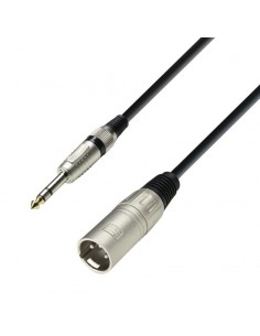 ADAM HALL CABLES 3 STAR SERIES - MICROPHONE CABLE XLR MALE TO 6.3 MM JACK STEREO 10 M