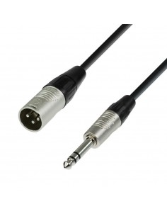 ADAM HALL CABLES 4 STAR SERIES - MICROPHONE CABLE XLR MALE TO 6.3 MM JACK STEREO 3 M