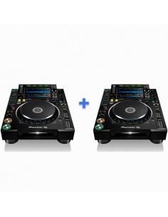 2 x PIONEER DJ CDJ-2000 NXS2