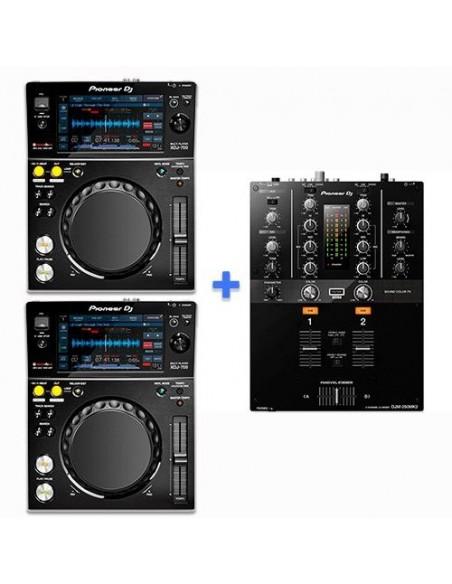 2 x PIONEER XDJ-700 + PIONEER DJM-250 MK2