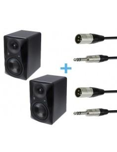 2 x MACKIE MR524 + 2 x Cables XLR Macho a Jack Stereo 3m