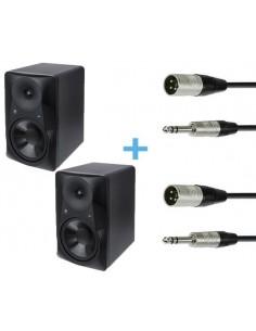 2 x MACKIE MR824 + 2 x Cables XLR Macho a Jack Stereo 3m
