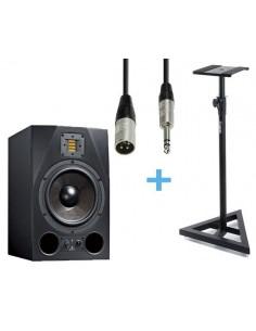 ADAM A8X + Cable XLR Macho a Jack Stereo 3m + Soporte ADAM HALL SKDB039
