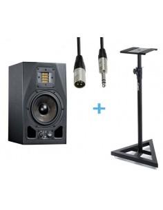 ADAM A3X + Cable XLR Macho a Jack Stereo 3m + Soporte ADAM HALL SKDB039