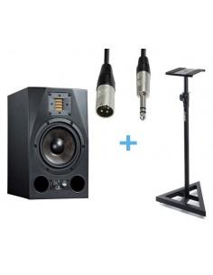 ADAM A7X + Cable XLR Macho a Jack Stereo 3m + Soporte ADAM HALL SKDB039