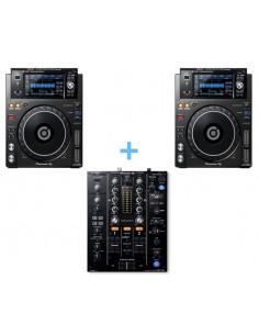 PIONEER DJM-450 + 2x PIONEER XDJ-1000 MK2