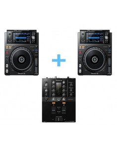 2x PIONEER XDJ-1000 MK2 + PIONEER DJM-250 MK2