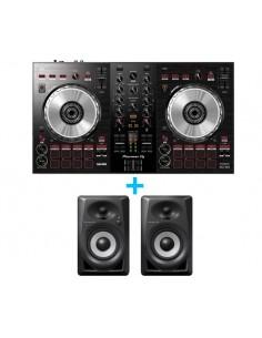 PIONEER DJ DDJ-SB3 + PIONEER DJ DM-40BT (Pareja)