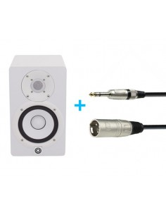 YAMAHA HS 5 W + CABLE XLR MALE TO 6.3 MM JACK STEREO 6 M