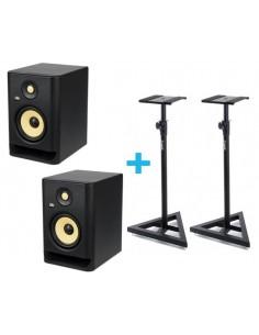 2x KRK ROKIT RP5 G4 + 2x Soporte Monitor