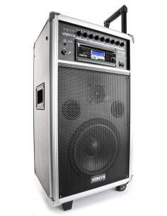 """VONYX ST100 MK2 SISTEMA PORTATIL 8"""" BT/CD/MP3/UHF"""