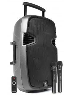 "VONYX SPJ-PA915 BAFLE MOVIL ACTIVO ABS 15"" 2 MICROS VHF/USB/MP3"