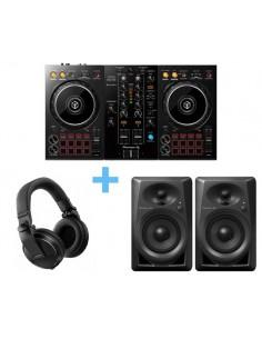 PIONEER DJ DDJ-400 + PIONEER DJ DM-40 + PIONEER DJ HDJ-X5K